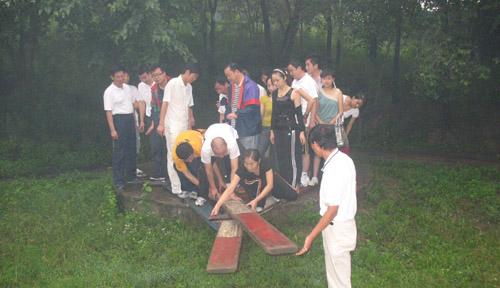 黄埔班学员怀柔区生存岛拓展训练报道